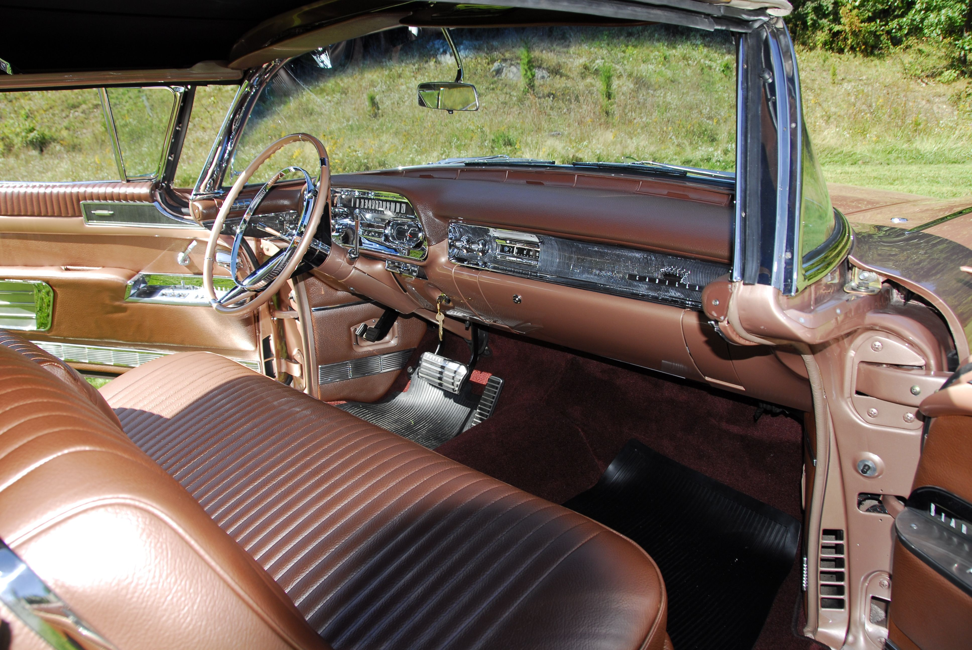 1958 cadillac eldorado biarritz interior restoration done in house by the cadillac restoration specialists of