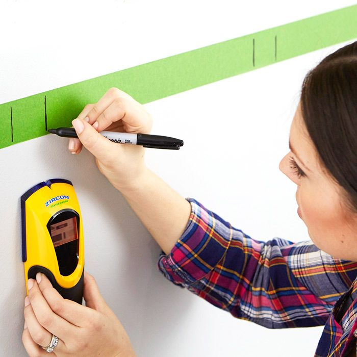 Finding Studs With An Electronic Stud Finder And Marking Multiple