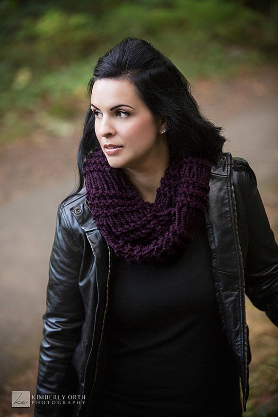 Photo of Knit Infinity Scarf for Women, Infinity Scarf Knit, Chunky Knit Scarf Infinity, Knit Cowl Scarf, Knit Winter Scarf, Winter Infinity Scarf