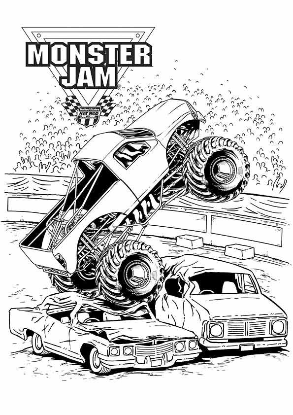 Print Coloring Image Momjunction Birthday Boys In 2019 Monster Truck Coloring Pages Monster Jam Tickets Truck Coloring Pages