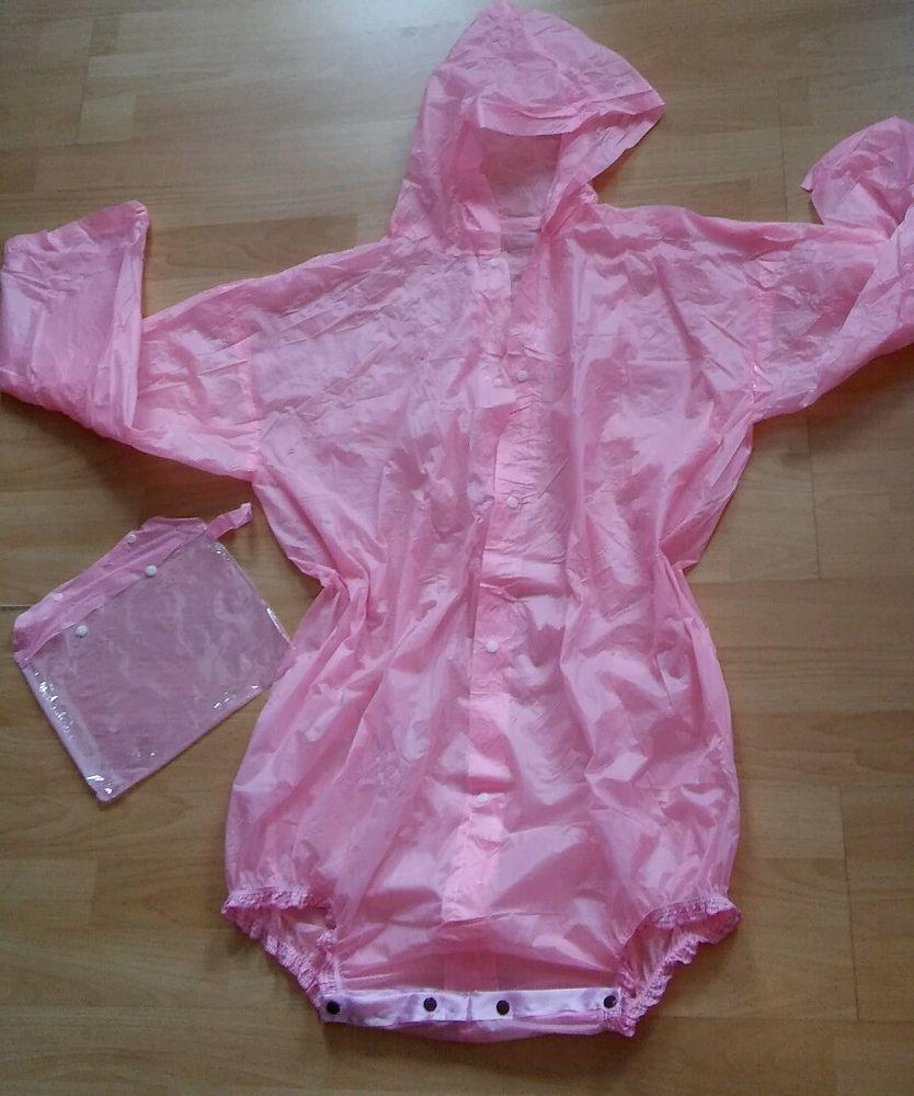 Body Adult Baby Windelbody Spreizbody Diaper Fetisch Gummihose PVC PLASTIK  ROSA