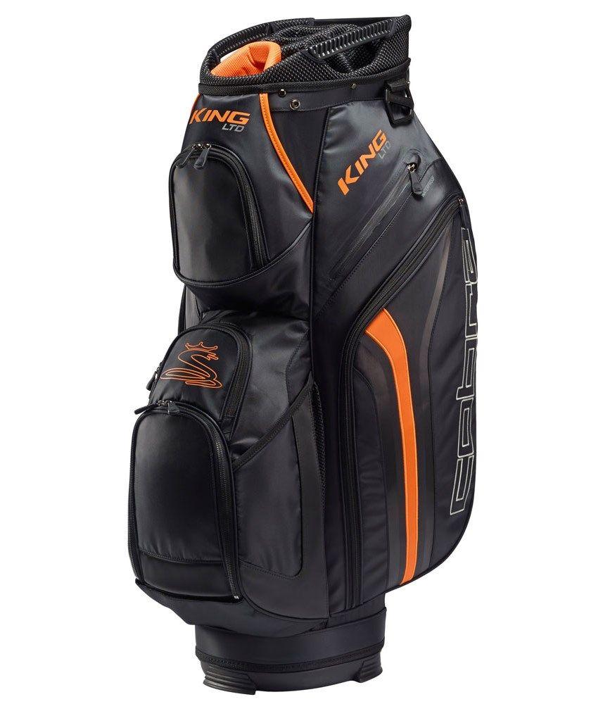 Cobra Golf King Cart Bag Ltd Black Orange 14 Way Top New