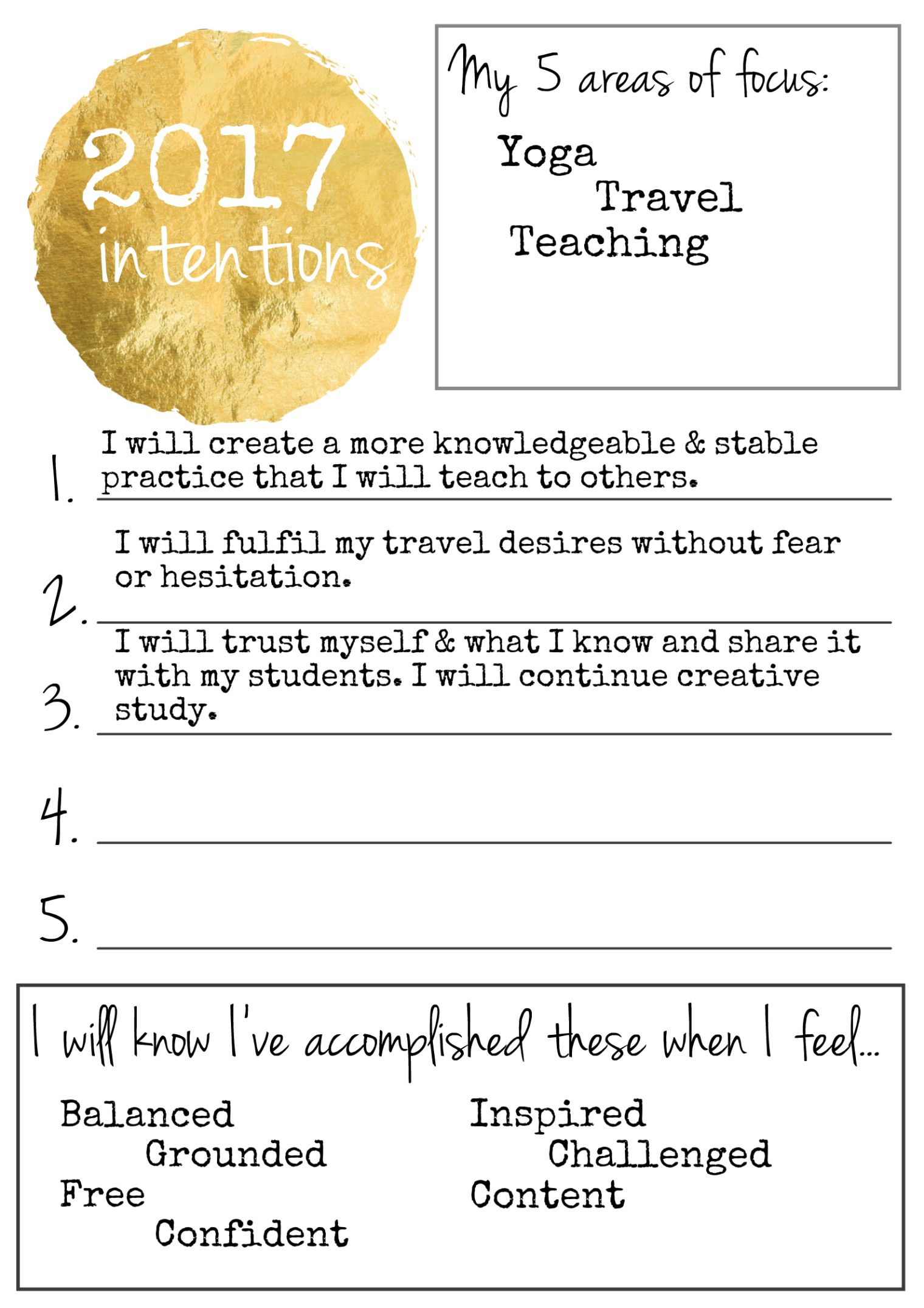 Intention Setting Printable Guides Amp Strategies For