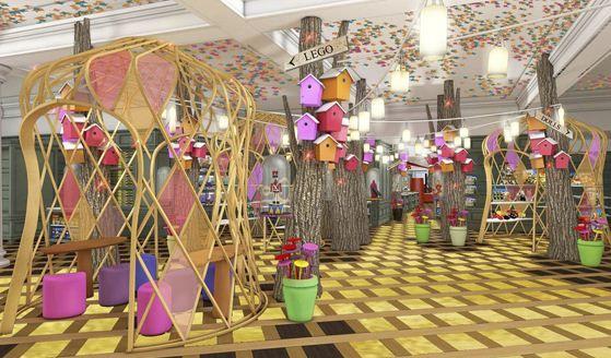 harrods kids department winkel interieur winkel interieur warenhuis speelgoedwinkel tenten