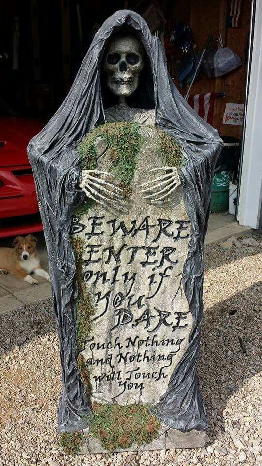 Halloween reaper beware tombstone 2014 Halloween fun Pinterest - diy outdoor halloween props