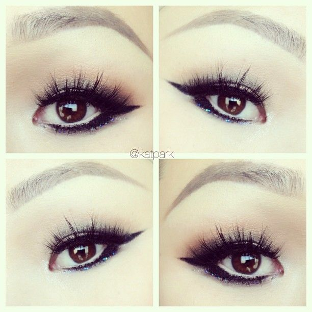 #AsianEyes makeup with eyelash extensions on the upper ...