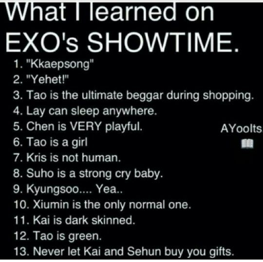 Xiumin is the only normal one XD