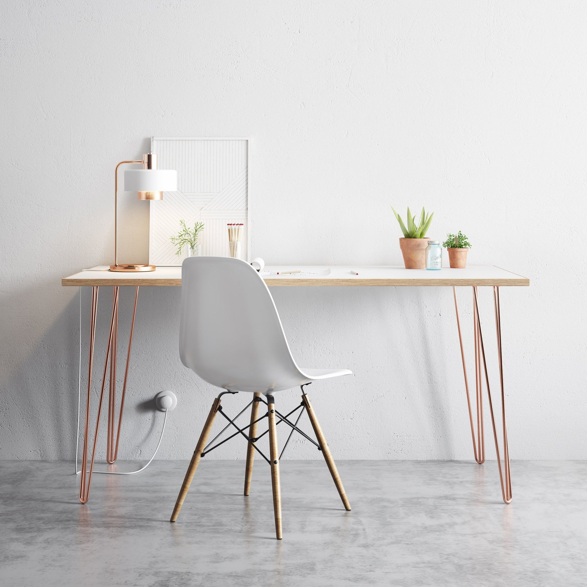 Copper Hairpin Legs With Images Hair Pins Hairpin Leg Desk