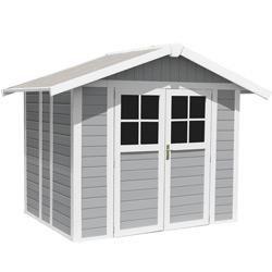 Abri De Jardin En PVC 11,2m² UTILITY Blanc Et Gris Bleu Grosfillex Sur  Www.mon Abri De Jardin.com/ #mon Abri De Jardin #grosfillex #garden #shed  #au2026