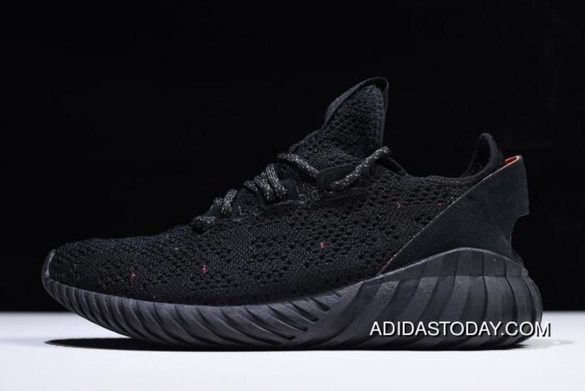 554ebe545 Men s And Women s Adidas Tubular Doom Sock Primeknit Bred Triple Black  Sneakers Discount