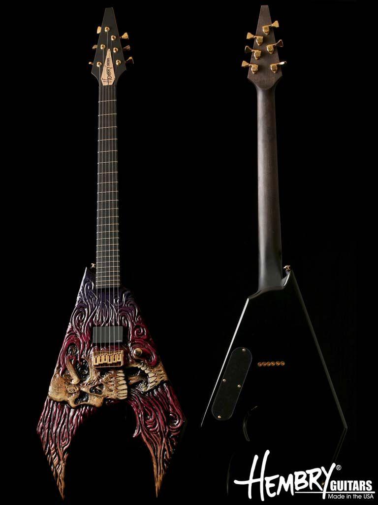 Hembry Skull V Guitar. Wicked.