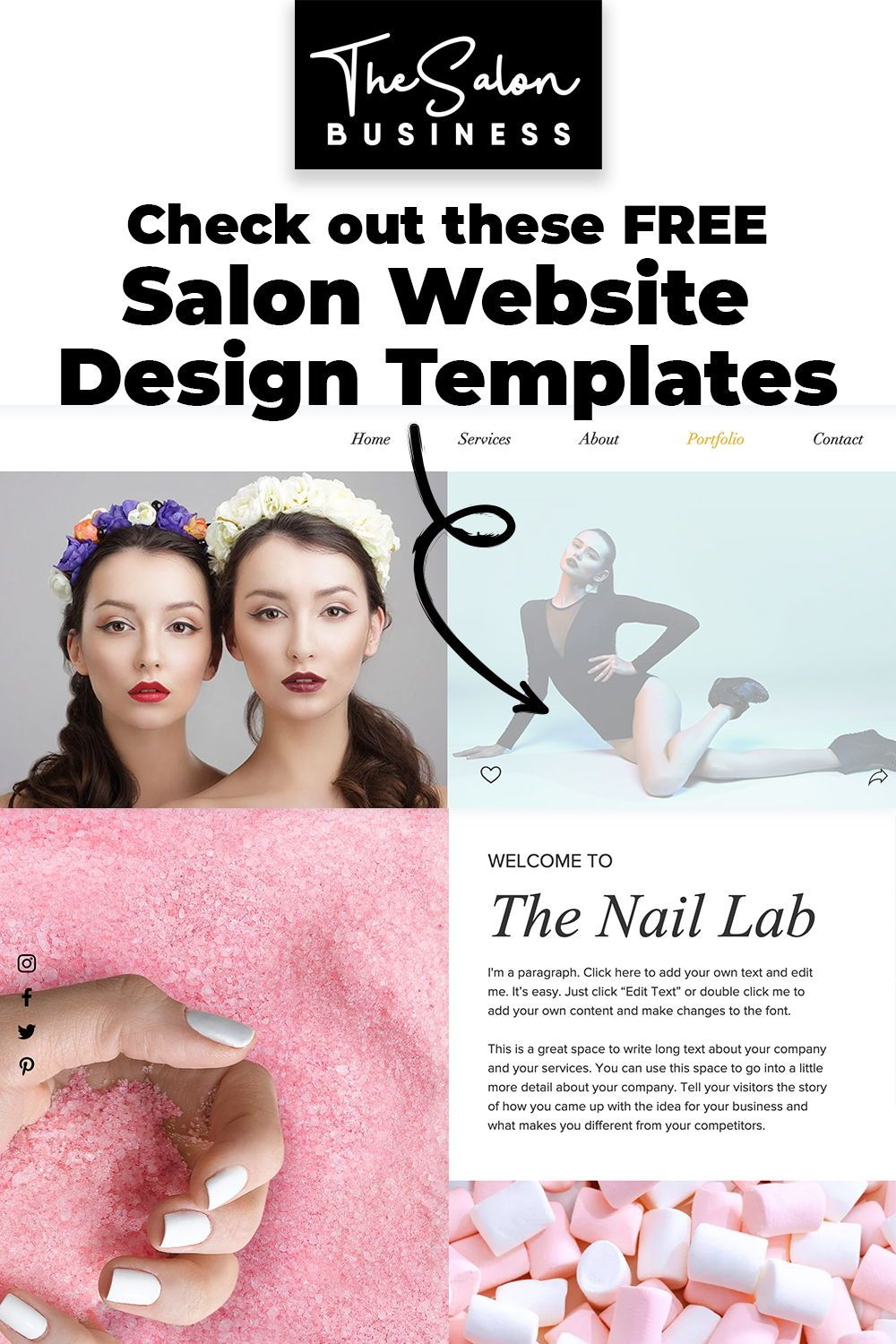 Free Salon Website Teamples. Check out these list of salon website