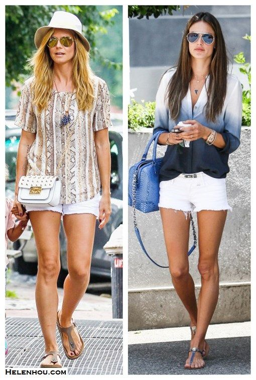 White Jean Shorts Outfit | My Style | Pinterest | White denim ...