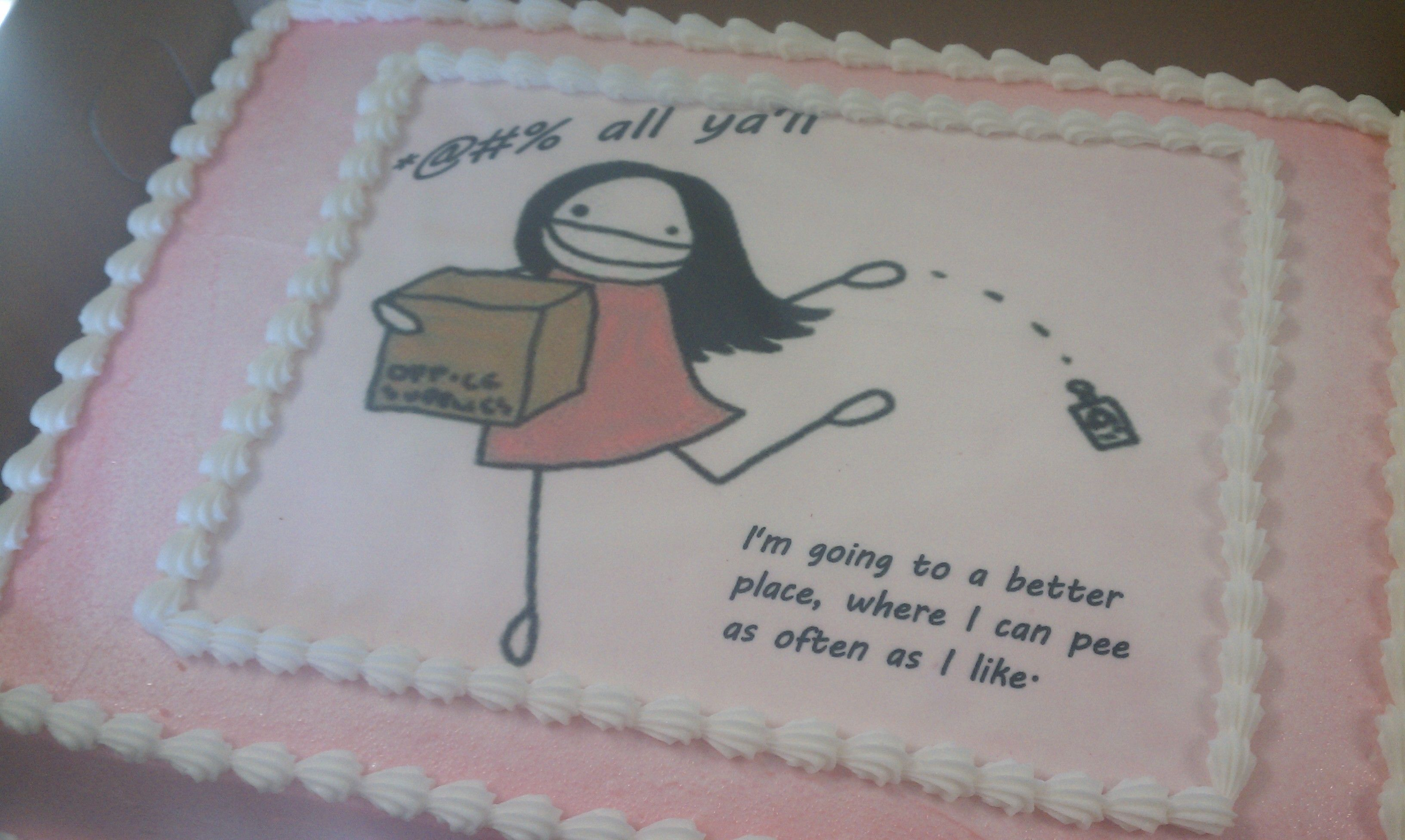 I Quit My Job Cake Farewell Cake Special Occasion Cakes