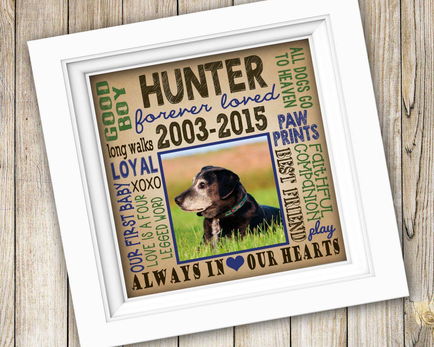 Dog Memorial Gift ~ Personalized Custom Printable In Loving Memory ...