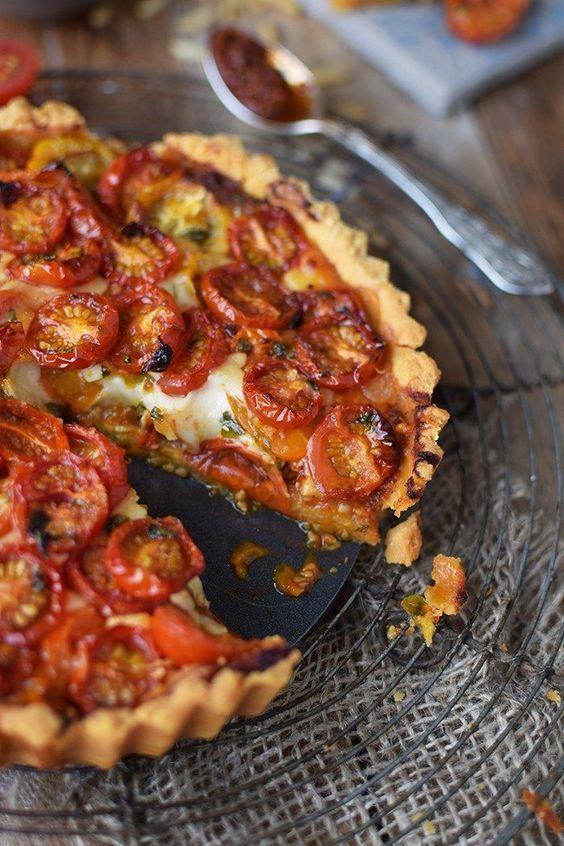 Tomato Parmesan Tarte - Tomato Parmesan Cheese Tart -  Tomato Parmesan Tarte – Parmesan Tomato Ta