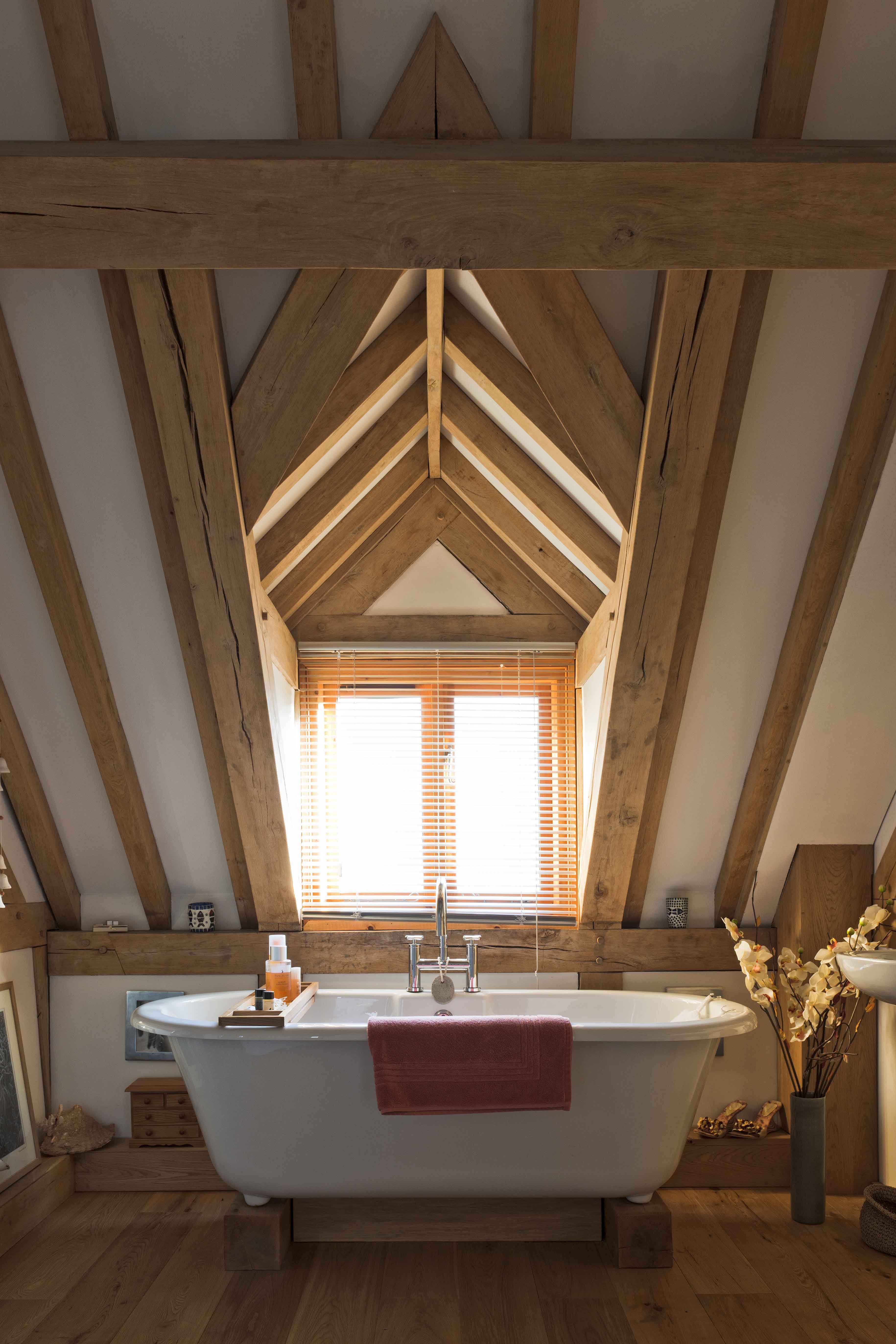 Dormer window ideas  the dormer window allows plenty of light to enter the bathroom