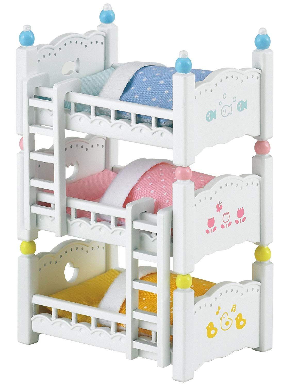 Sylvanian Families Triple Bunk Beds Assorted Colors Sylvanian Families Amazon Co Uk Toys Games Bunk Beds Triple Bunk Beds Bunk Bed Mattress