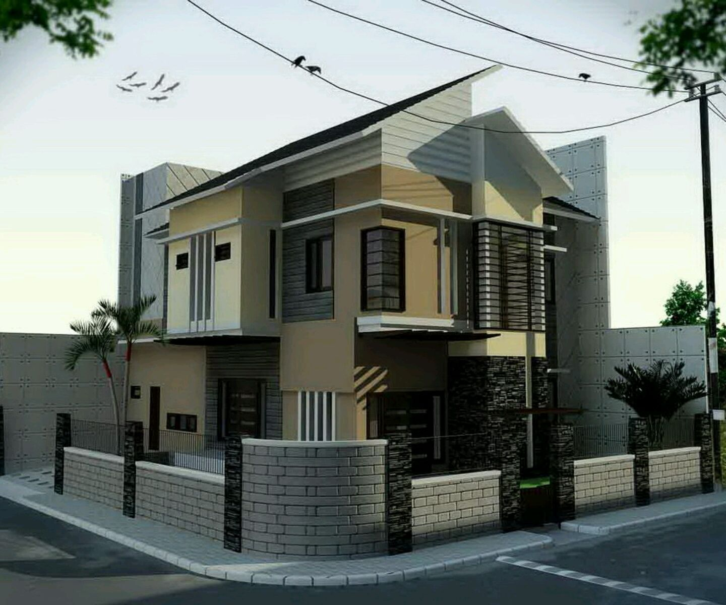 Modern Homes Designs Front Views Also All In One Rh Pinterest