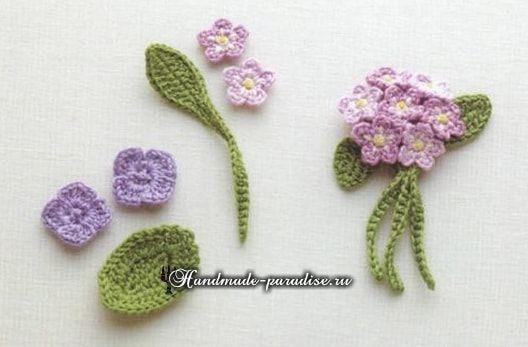 гортензия крючком схемы вязания Crochet вязание вязаная