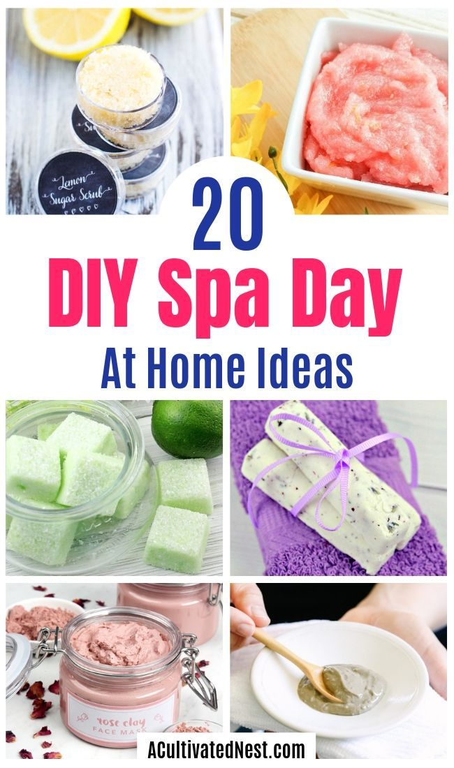20 DIY Spa Day At Home Ideas You dont need to spend money at a commercial spa when you know these DIY spa day at home beauty product recipes and tips Youll be relaxed and...