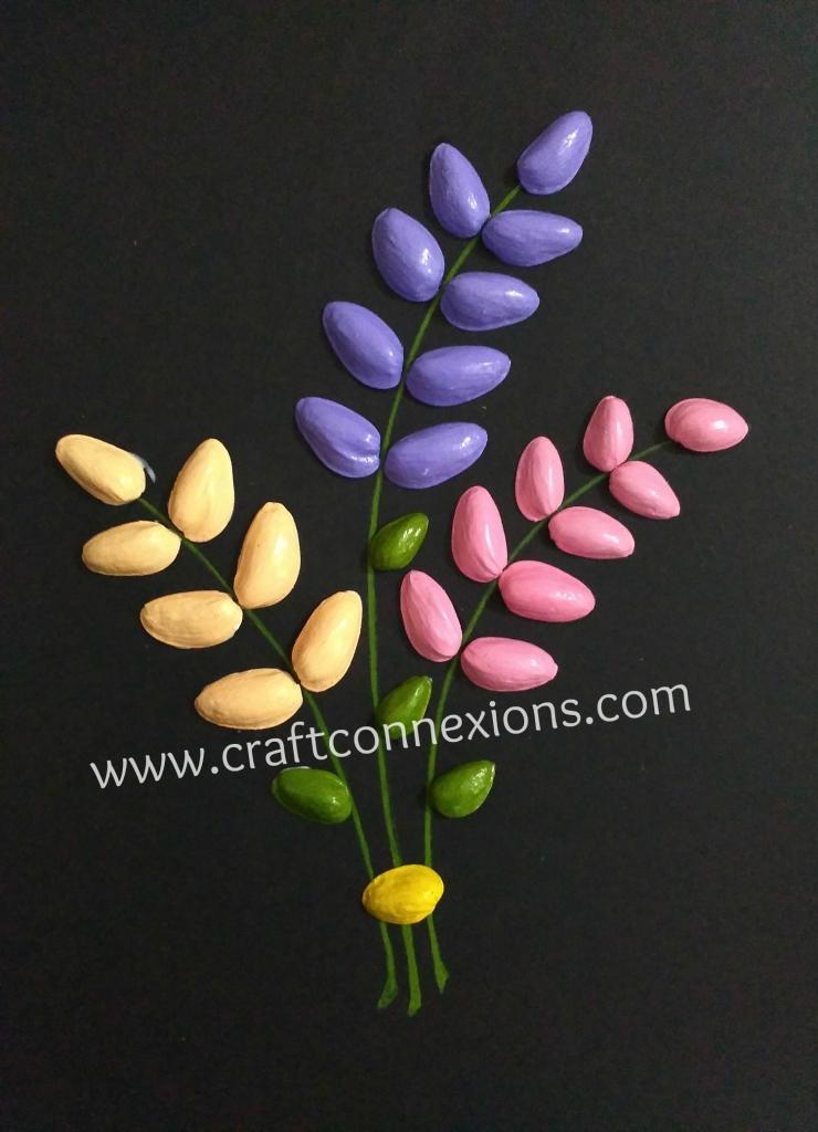 Recycling Craft Pistachio Shells Flower Bouquet Tutorial Diy