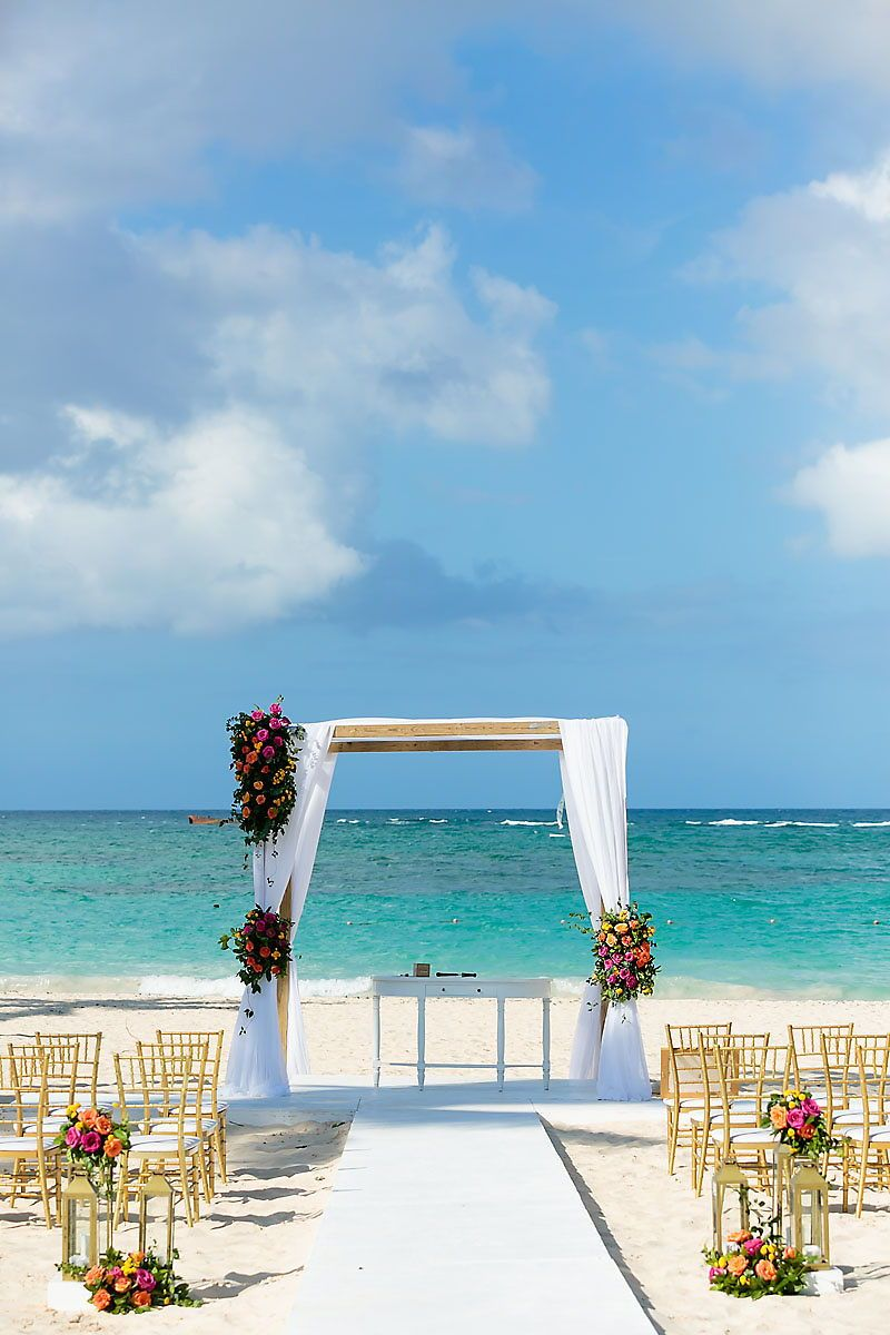 Love The Beauty Of This Multicoloured Beach Wedding Ceremony A