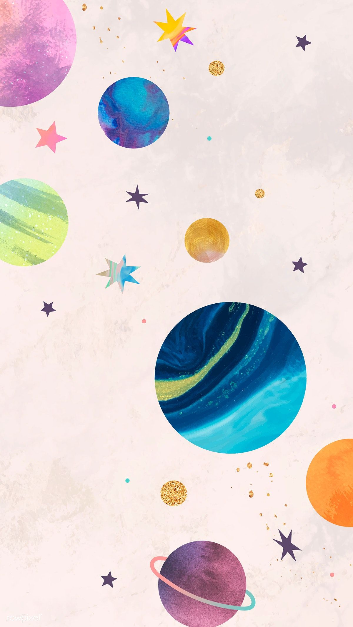 Download premium vector of Colorful galaxy watercolor doodle on pastel background mobile phone wallpaper vector by Toon about watercolor mobile phone wallpaper, Coloured drawing, cute wallpaper, Pastel wallpaper iphone, and wallpaper 1230080
