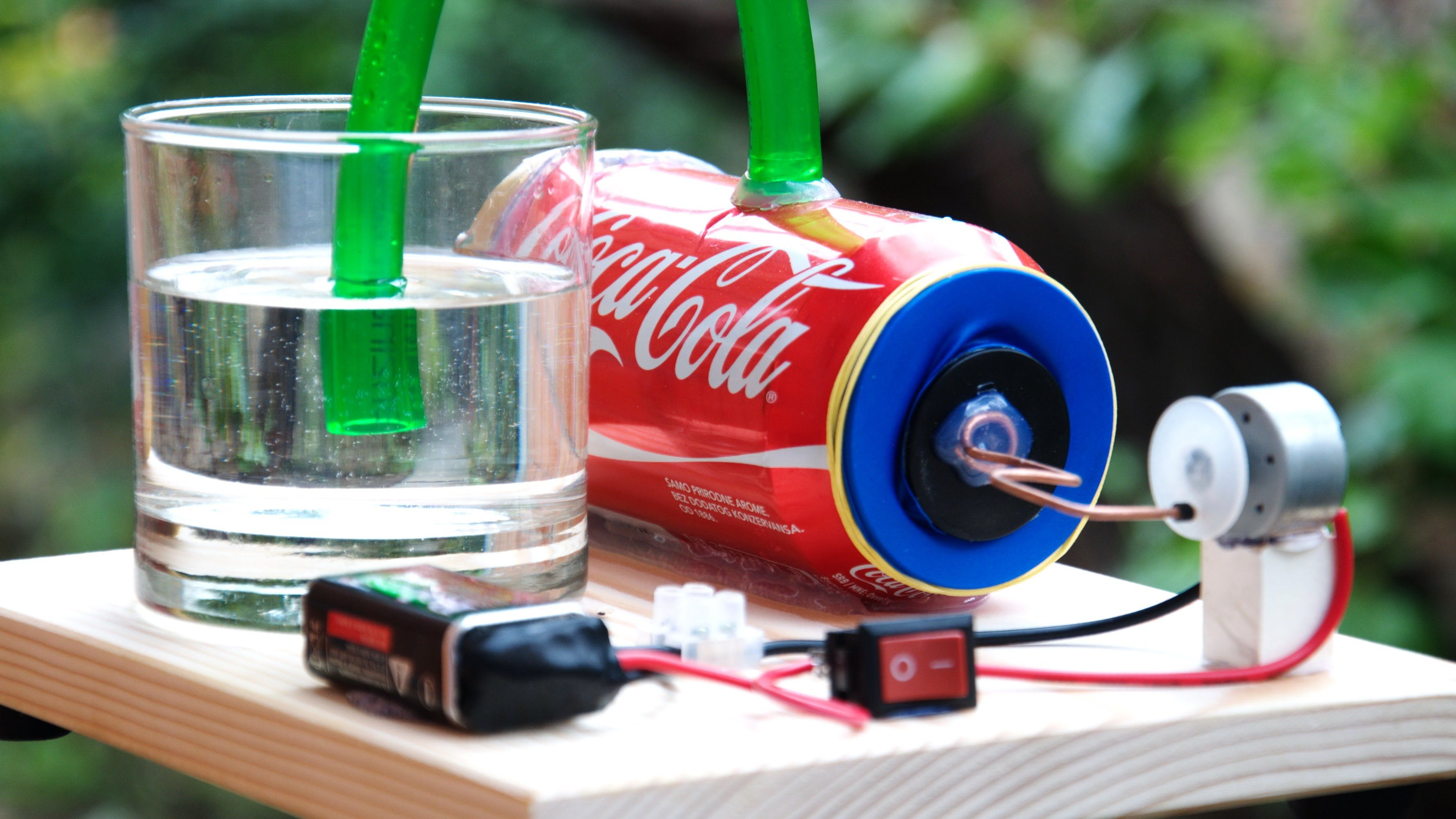DIY air pump. Can be used as a compressor (for gasses) as