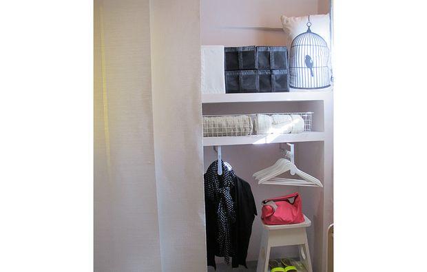 Casafacile soluzioni con una tenda cabina armadio