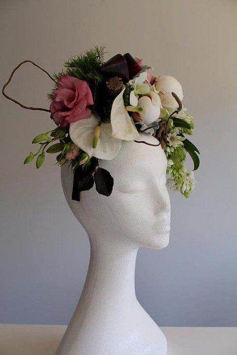 Naomi Rose Floral Design. Fresh flower fascinator  eebfefc44be