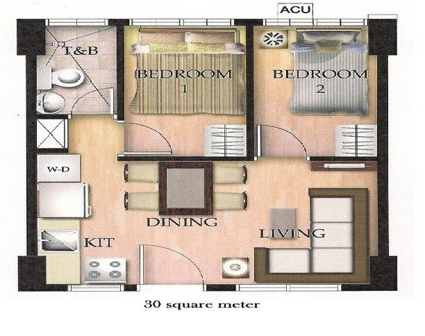 Not Bad For A 30sqm Flat Small House Floor Plans Beautiful House Plans Small House Design
