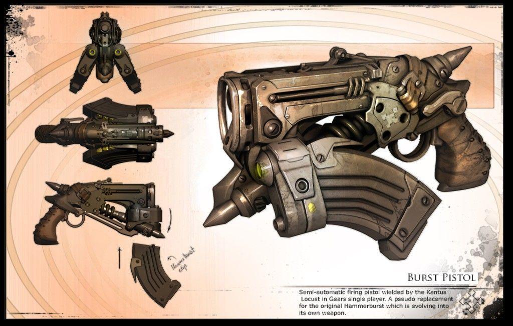 Burst Pistol Gears of War 2 This Gears of War concept
