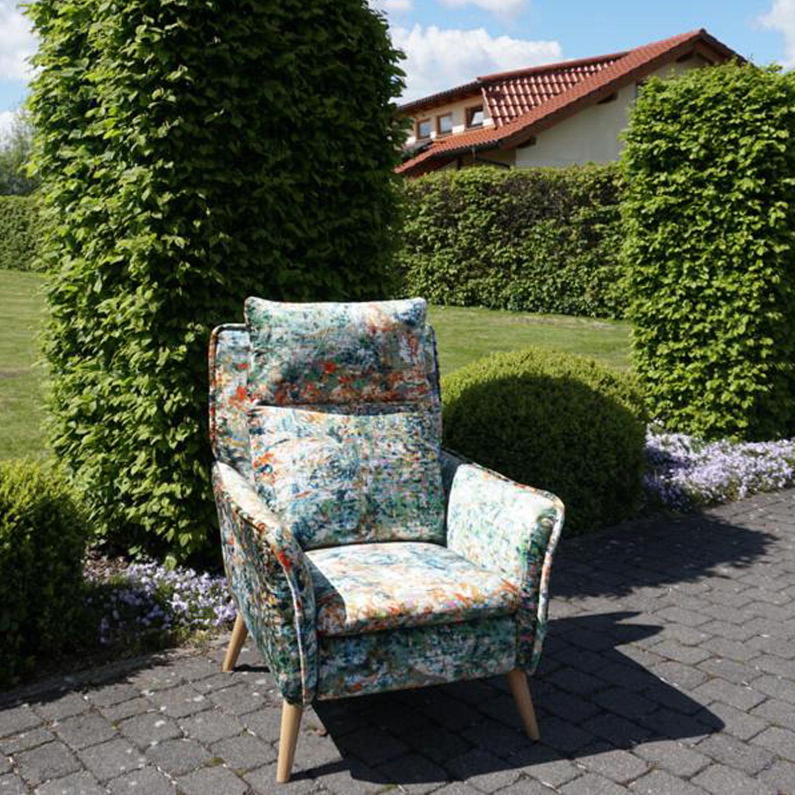 Relaxsessel Mit Schlaffunktion Im Floralen Muster Relaxsessel Sessel Fernsehsessel