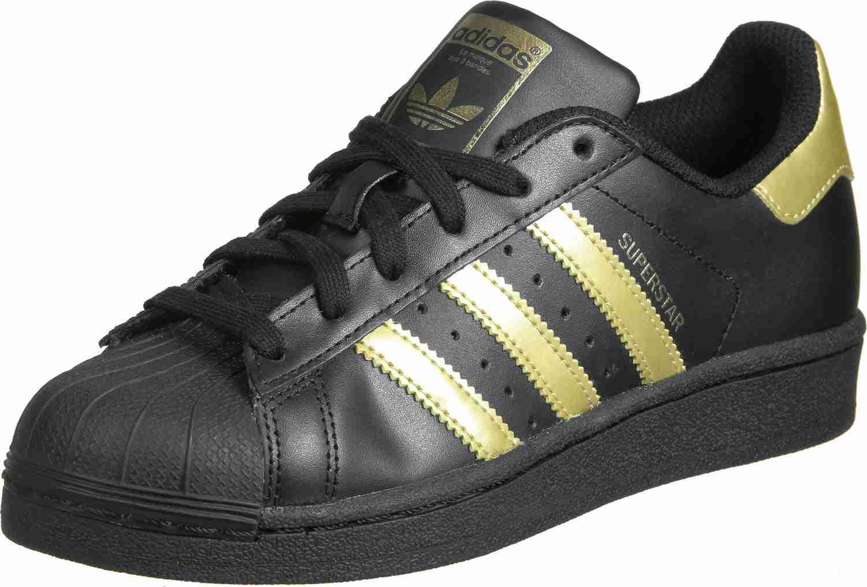 adidas Superstar Foundation J W Schuhe Schwarz Gold ZDE97063 ...