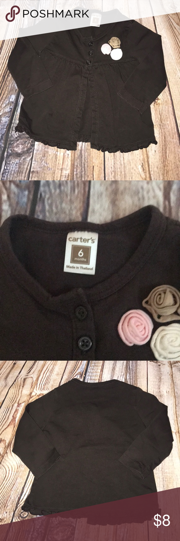 7acc81a76 CARTER S BABY GIRL CARDIGAN SIZE 6 MONTHS In good condition. Brown ...