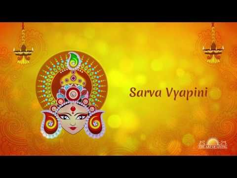 Sarva Vyapini is a Durga bhajan from the Art of Living album Devi, which was sung by Bhanumati Narsimhan (Bhanu Didi). Listening to bhajans during Navratri is very auspicious and can help quiet the mind and open the heart to the divine.