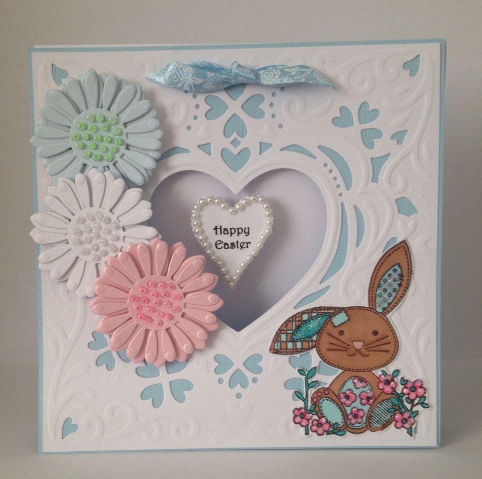 Easter card using Diesire Create a Card Romance die