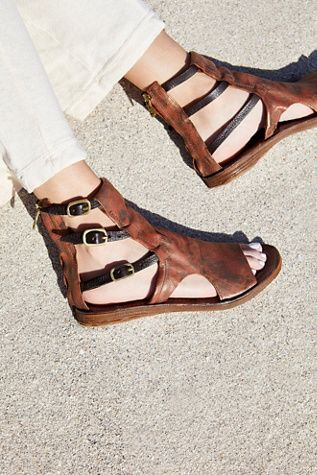 under $60 limited edition online Brown 'Ryde' flat sandals free shipping store free shipping ebay buy cheap 2014 newest s5IKcPXo