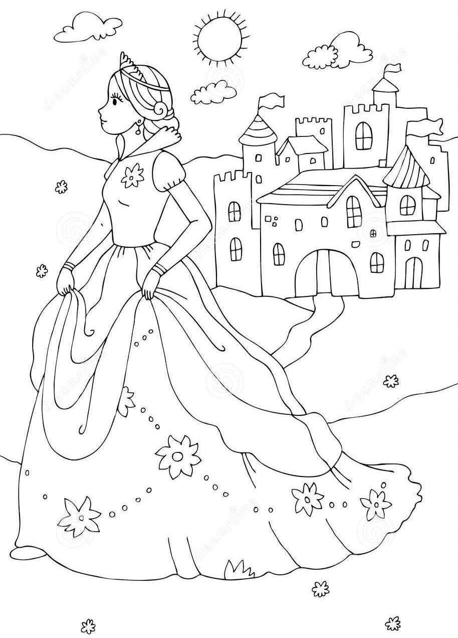 Coloring Pages Of Princess Castles Through The Thousand Images On The Internet In Relation To Col Castle Coloring Page Coloring Pages Princess Coloring Pages