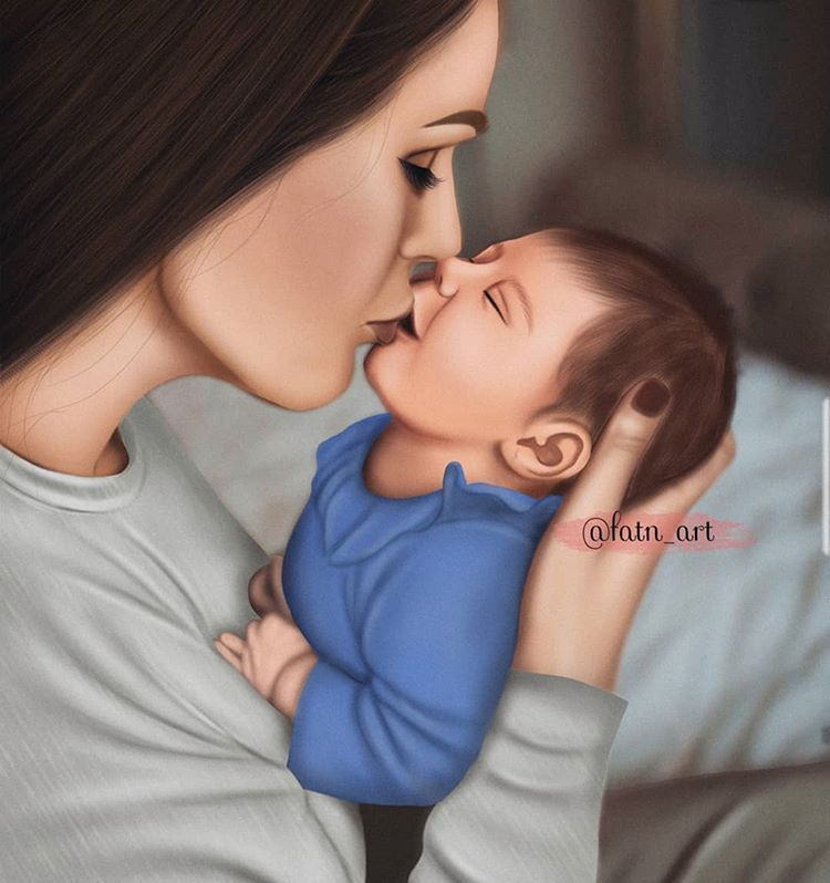 Pin By Flor De La Rosa Cervantes On Baby And Mother Mother Child Photography Mother Daughter Art Mom Art