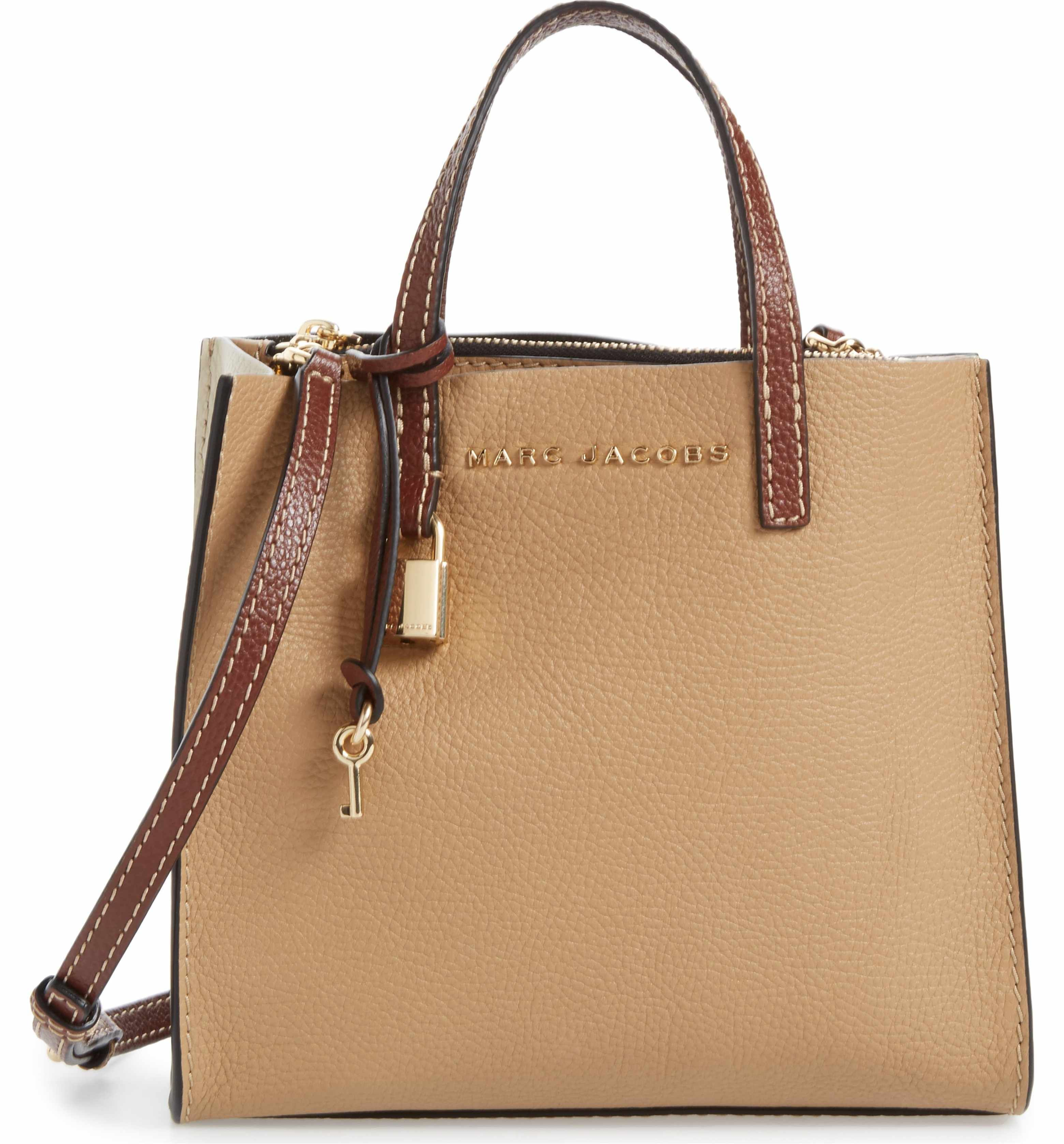 aa1e4d691749 Main Image - MARC JACOBS The Grind Mini Colorblock Leather Tote ...