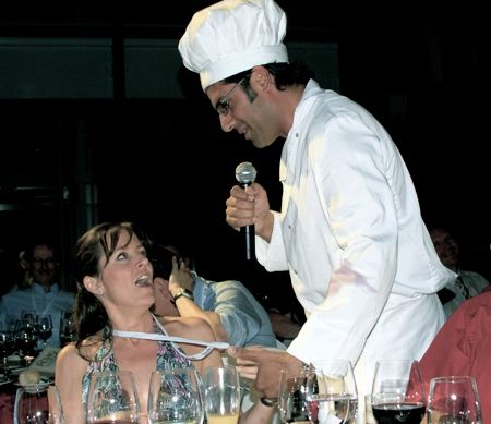 Yossi the chef takes applause for the meal and then surprises the guests when he demonstrates his fantastic singing voice.