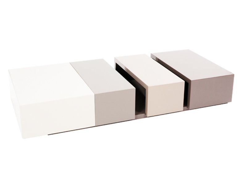 LOW RECTANGULAR COFFEE TABLE EXTENSION LES CONTEMPORAINES COLLECTION