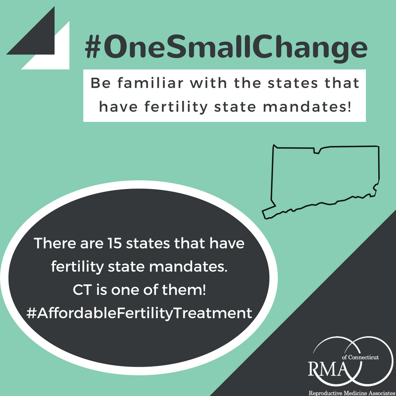 Onesmallchange Be Familiar With Which States Have Fertilitystatemandates Only 15 Infertility Awareness