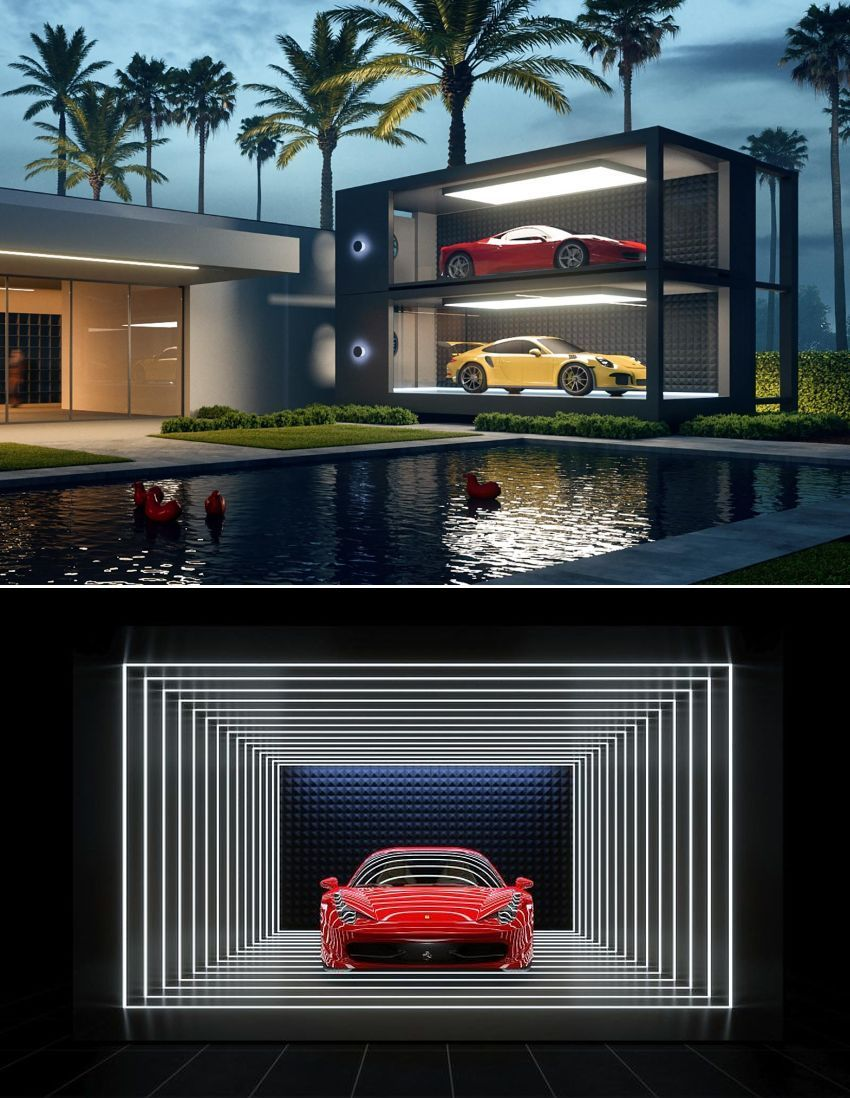 Supercar Capsule Is Personal Showroom For Your Luxe Car In 2020 Luxury Garage Container House Super Cars