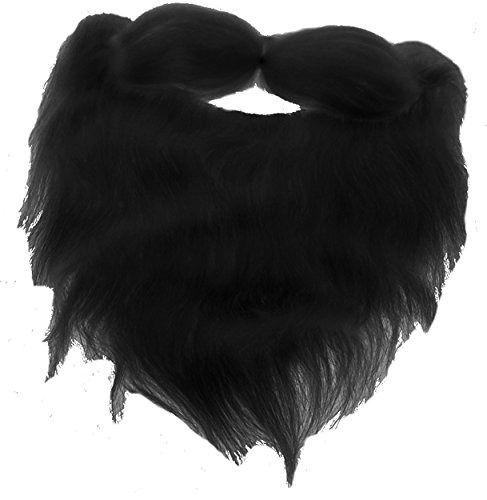 fd93806eebd Fake Beard Facial Hair And Mustache Halloween Costume Accessory-Black-8
