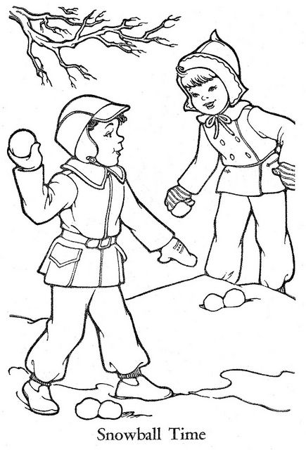 vintage coloring pages of children - photo#37