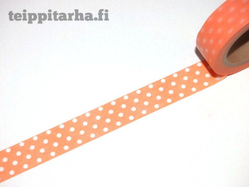 Washiteippi (polkadot) Persikka  1,5e