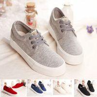 5 colores 2014 zapatos para mujer de la zapatilla de deporte Moda Casual lona plano Mujer con cordones de los zapatos de plataforma de Zapatillas de lona tamaño 35-39 Zapatos Mujer